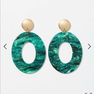 Loft metallic resin drop earring